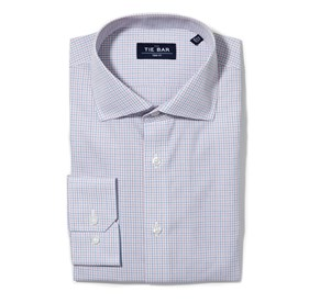 Pink Multi Check non-iron dress shirt
