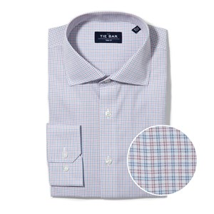 multi check pink non-iron dress shirt