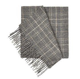 Charcoal Gold Coast Glen scarf