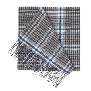 Lincoln Square Plaid Tan Scarf