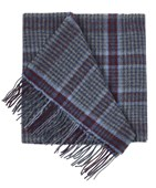 SCARVES - LINCOLN SQUARE PLAID - BURGUNDY