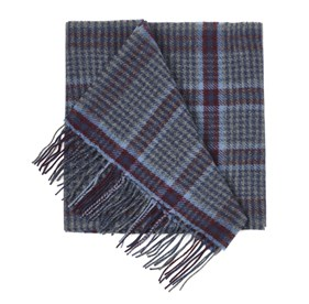 Burgundy Lincoln Square Plaid scarf