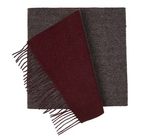 Burgundy River West Solid scarf