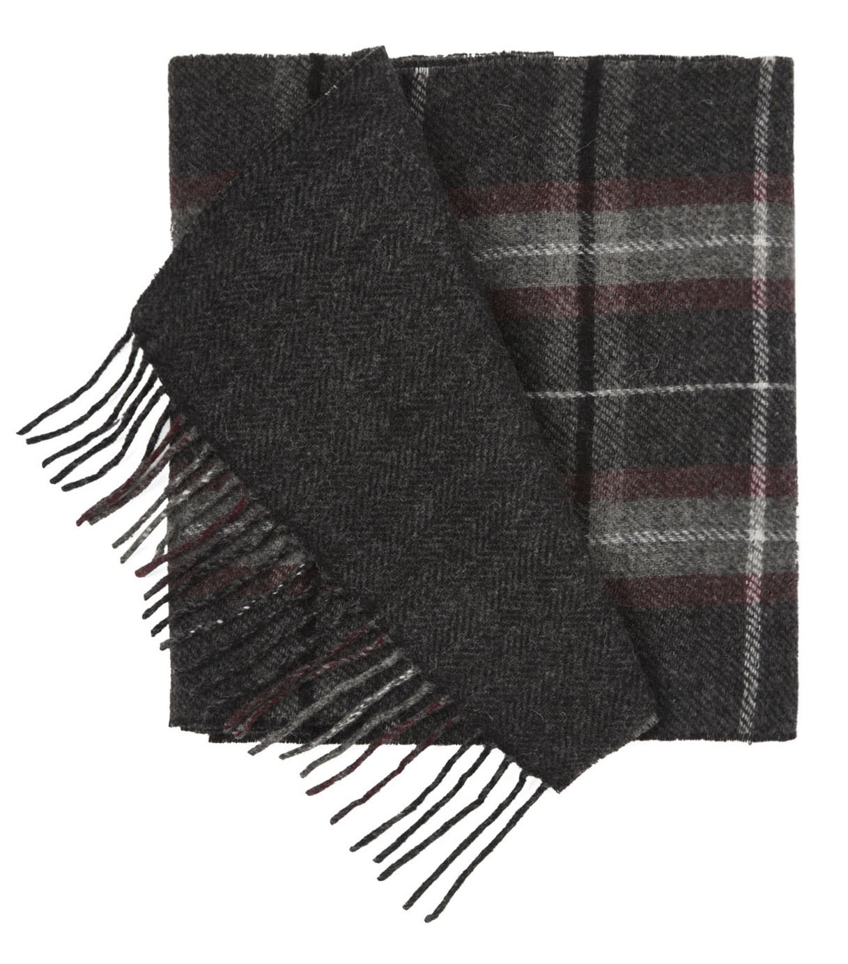 Charcoal Edgewater Plaid Scarf Ties Bow Ties And