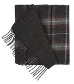 SCARVES - EDGEWATER PLAID - CHARCOAL