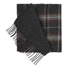 Charcoal Edgewater Plaid scarf
