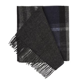 bridgeport plaid navy scarf