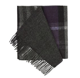 Plum Bridgeport Plaid scarf