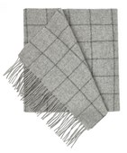 SCARVES - WEST TOWN PANE - LIGHT GREY
