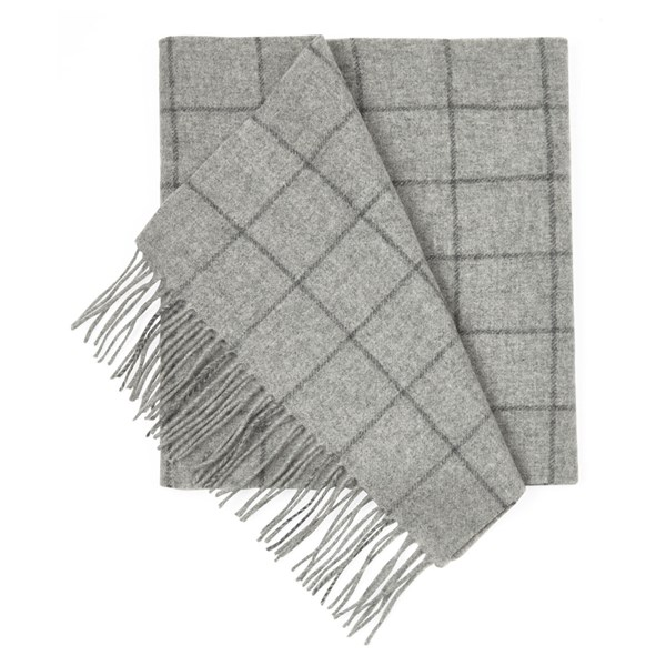 Light Grey West Town Pane Scarf