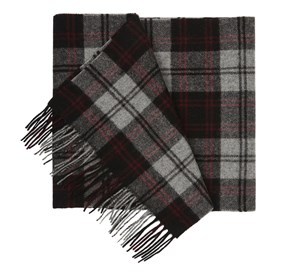 Burgundy University Village Plaid scarf