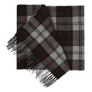 university village plaid burgundy scarf