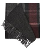 Scarves - Bridgeport Plaid - Burgundy