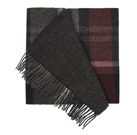 Burgundy Bridgeport Plaid scarf