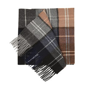 Burnt Orange Portage Park Plaid scarf