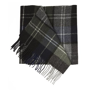 portage park plaid army green scarf