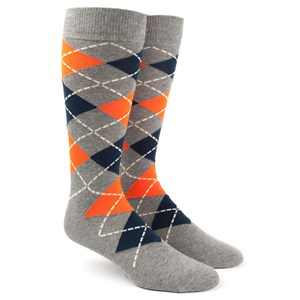 argyle tangerine dress socks