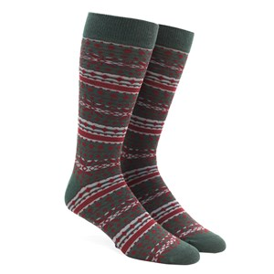 fair isle dark hunter dress socks