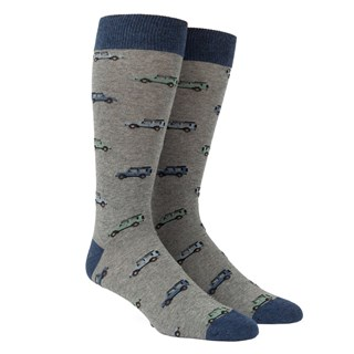 vintage cars green dress socks