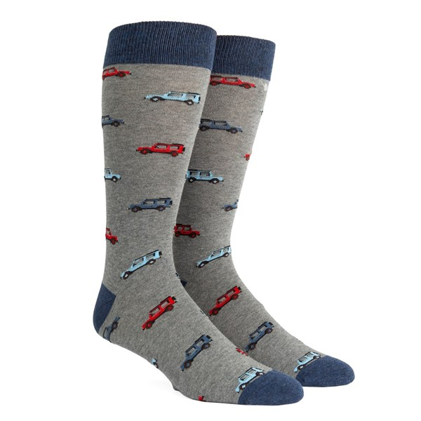 Blue Vintage Cars Socks