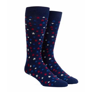 sparkler stars navy dress socks