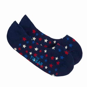 sparkler stars no-show navy dress socks