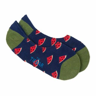thanks a melon no-show navy dress socks