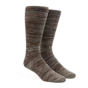 marled brown dress socks