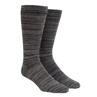 Marled Charcoal Dress Socks