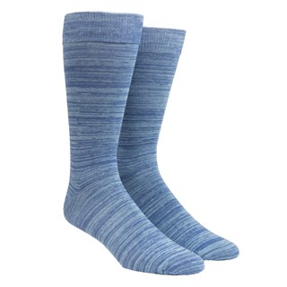 Marled Light Blue Dress Socks