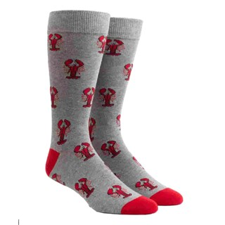 boston lobster charcoal dress socks