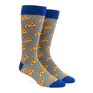 nyc pizza charcoal dress socks