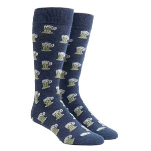 beer navy dress socks