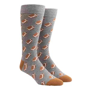 fall football charcoal dress socks