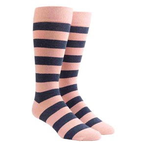 rugby stripe pink dress socks