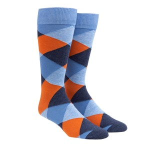 rohrer plaid orange dress socks