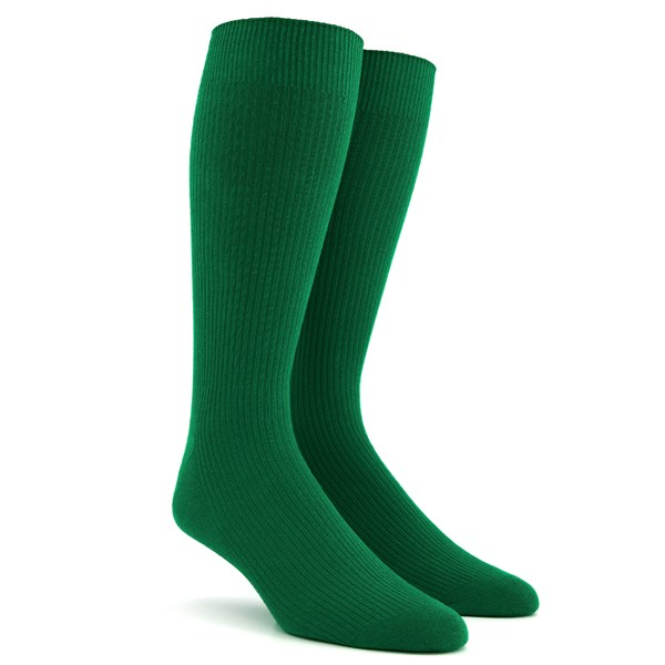 Ribbed Green Dress Socks