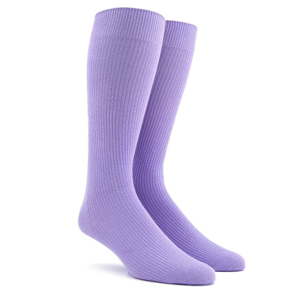 Ribbed Lavender Dress Socks