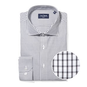 bold check grey non-iron dress shirt
