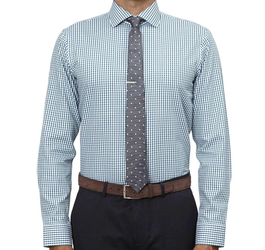 Hunter Green Shadow Gingham Shirt