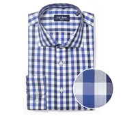 "Large Two Color Gingham - Navy - Trim 14.5"" x 32/33"" - Shirts"