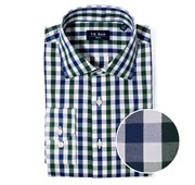 "Large Two Color Gingham (FS) - Hunter Green - Trim 15.5"" x 32/33"" - Shirts"