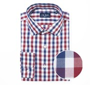 """Large Two Color Gingham - Burgundy - Trim 15.5"""" x 34/35"""" - Shirts"""