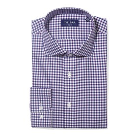 Purple Multi Tone Gingham non-iron dress shirt