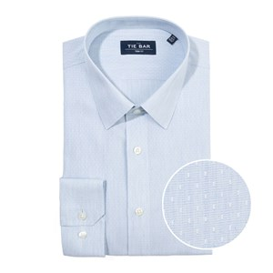heathered chambray dobby blue non-iron dress shirt