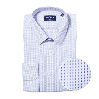 Rectangle Geo Blue Non-Iron Dress Shirt