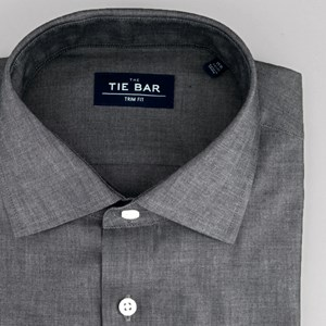 polished chambray grey dress shirt