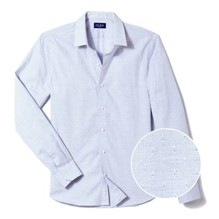 diamond dobby blue casual shirt
