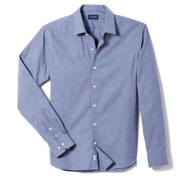 Solid Flannel Blue Casual Shirt