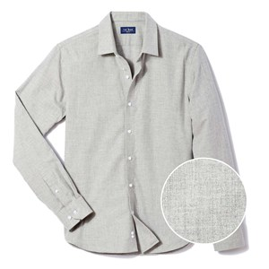 solid flannel grey casual shirt